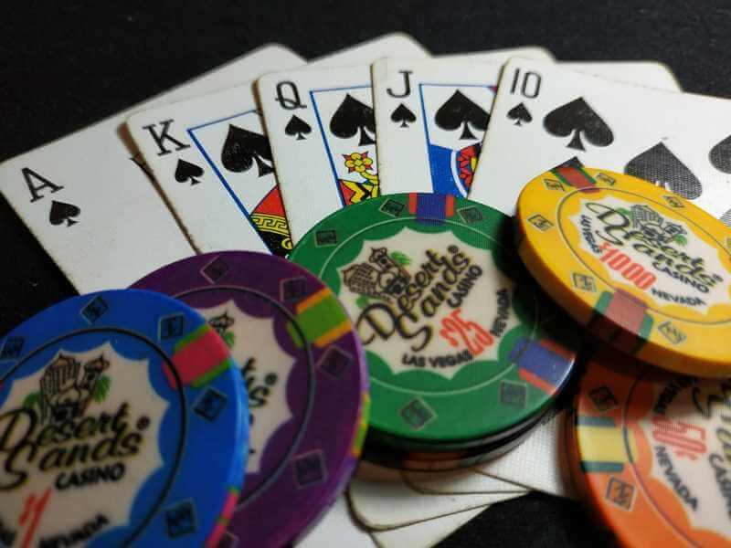 Royal Flush and Chips