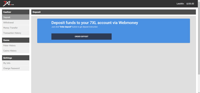 Web Money Deposit